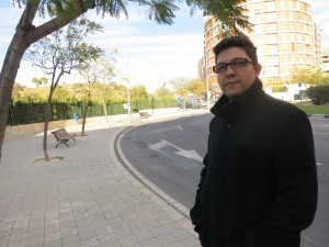 Ricardo, posing in front of one of the infuriatingly common Spanish roundabouts. [Photo by REBEKAH]