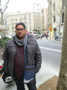 Luis, on the streets of Barcelona. [By REBEKAH]